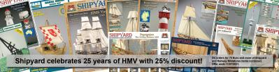 Shipyard congratulates HMV to its 25 year anniversary with 25% discount!