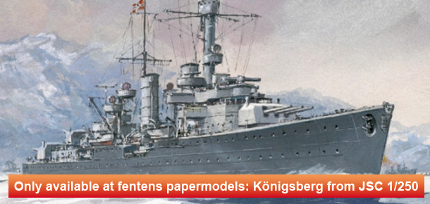 Exclusive Model - German light cruiser Königsberg 1/250